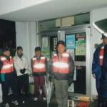 12/28_雨の中、石小校区内のパトロールを行いました