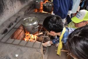 野外炊事2