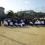 中学生避難及び誘導訓練